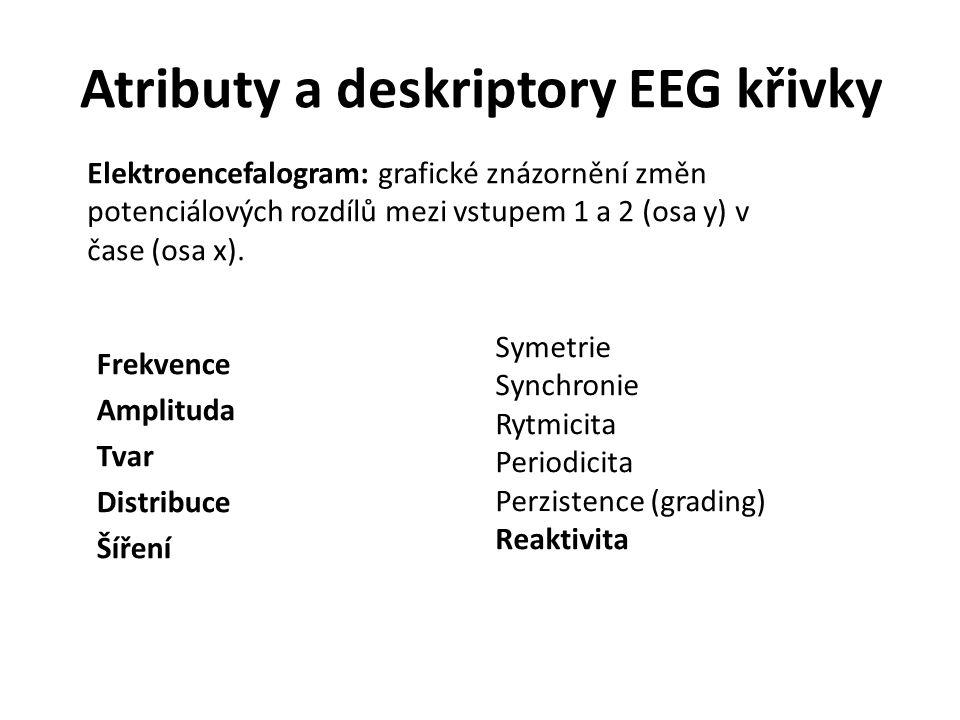 Atributy a deskriptory EEG křivky