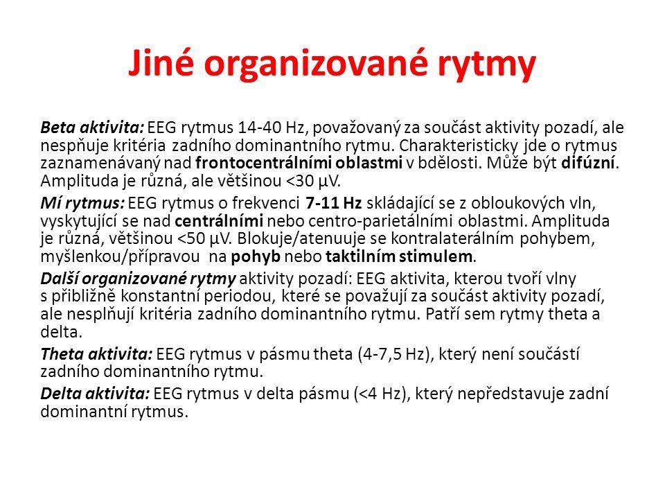 Jiné organizované rytmy