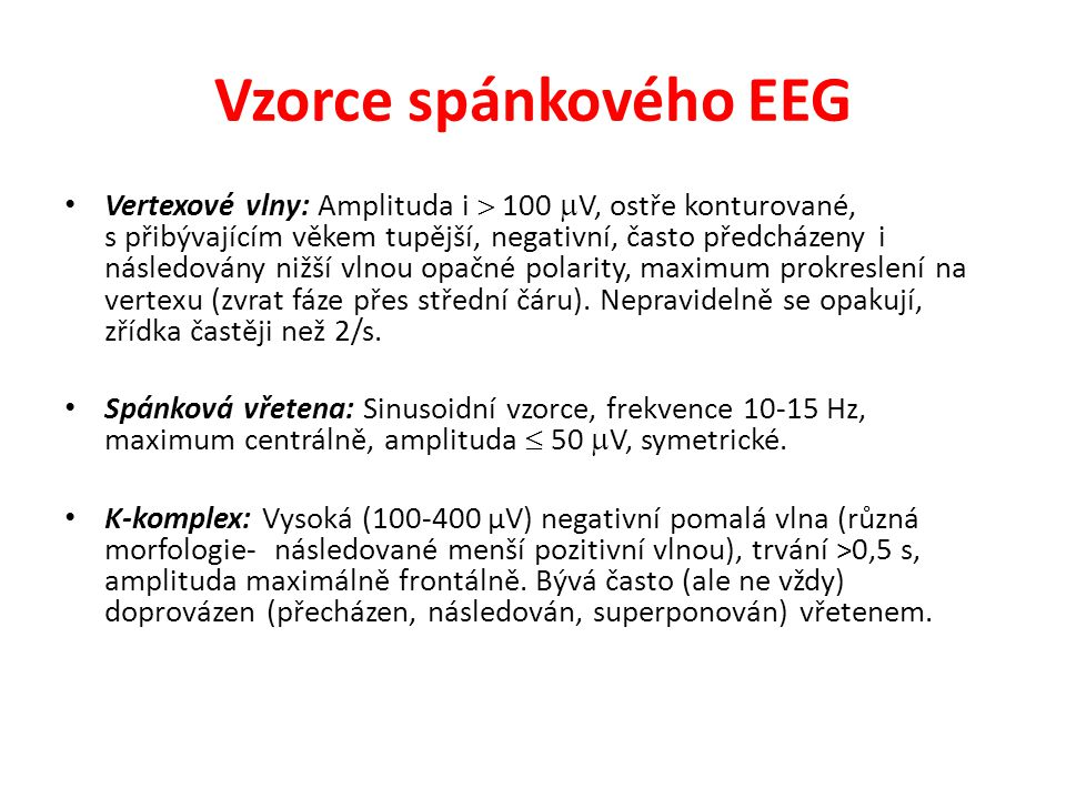 Vzorce spánkového EEG
