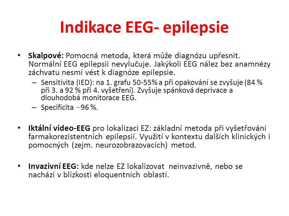 Indikace EEG- epilepsie