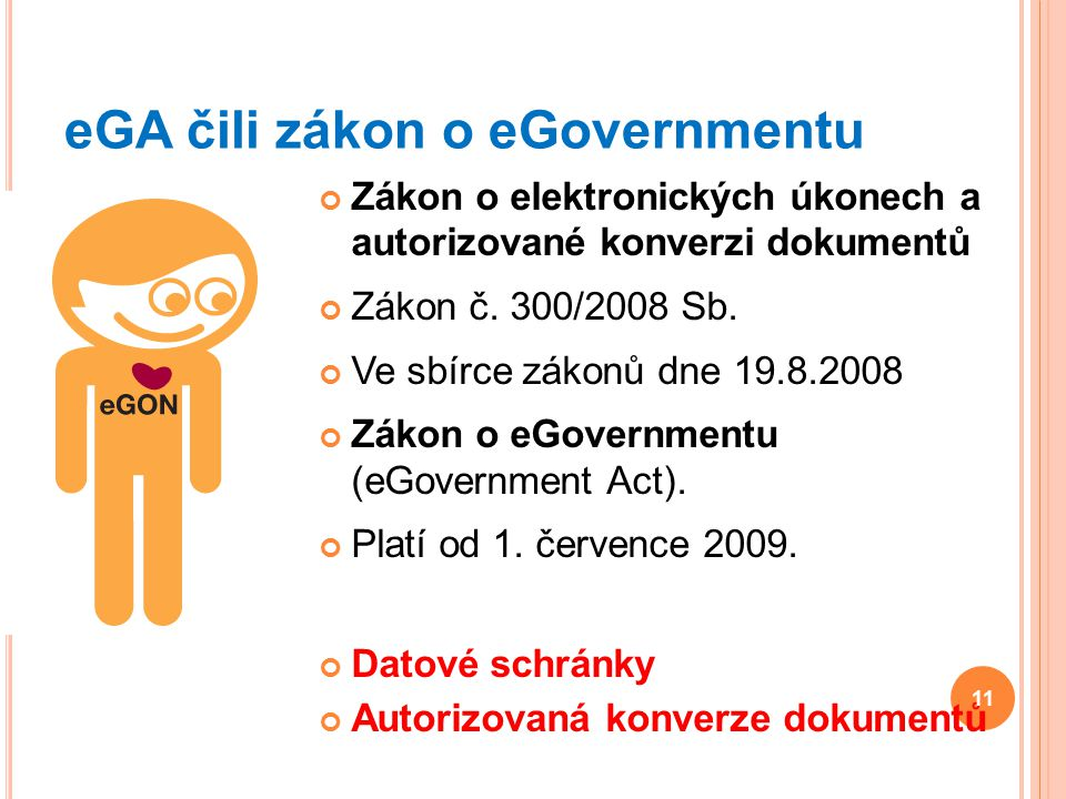 eGA čili zákon o eGovernmentu