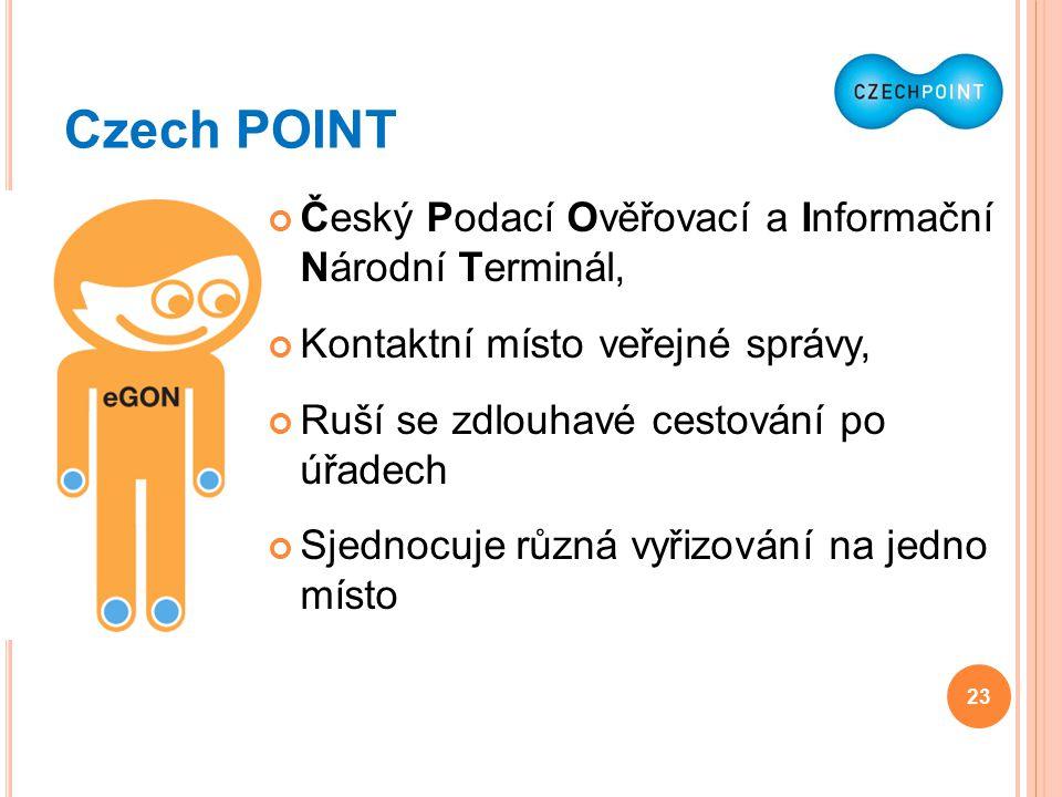 Czech POINT Český Podací Ověřovací a Informační Národní Terminál,
