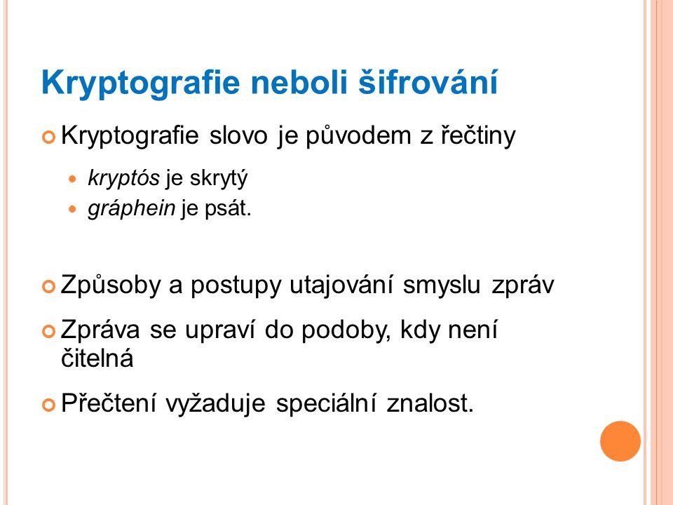 Kryptografie neboli šifrování