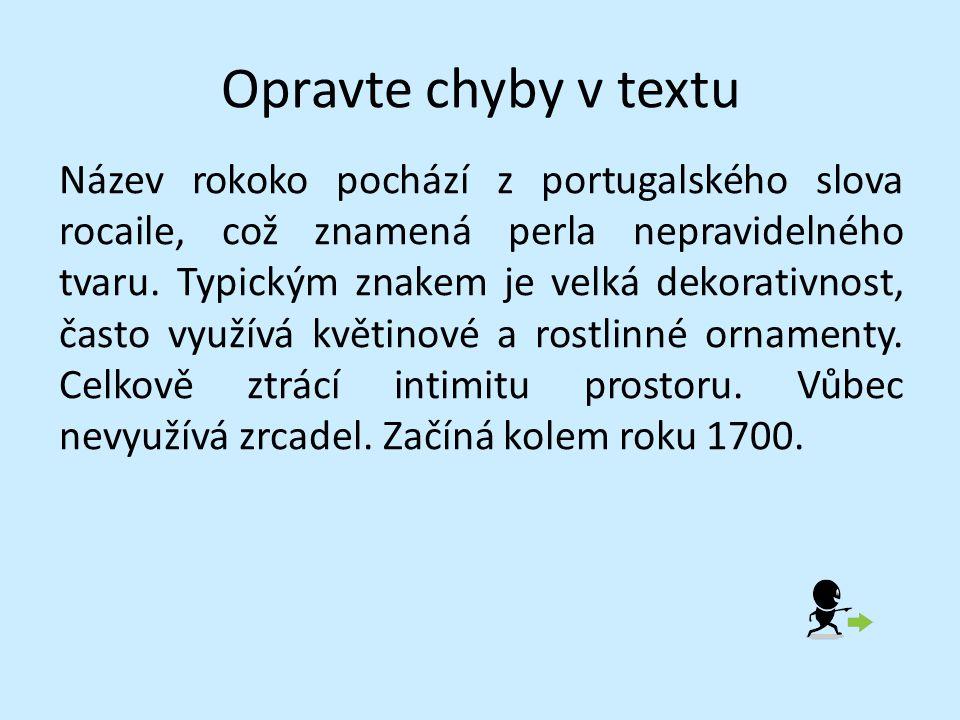 Opravte chyby v textu