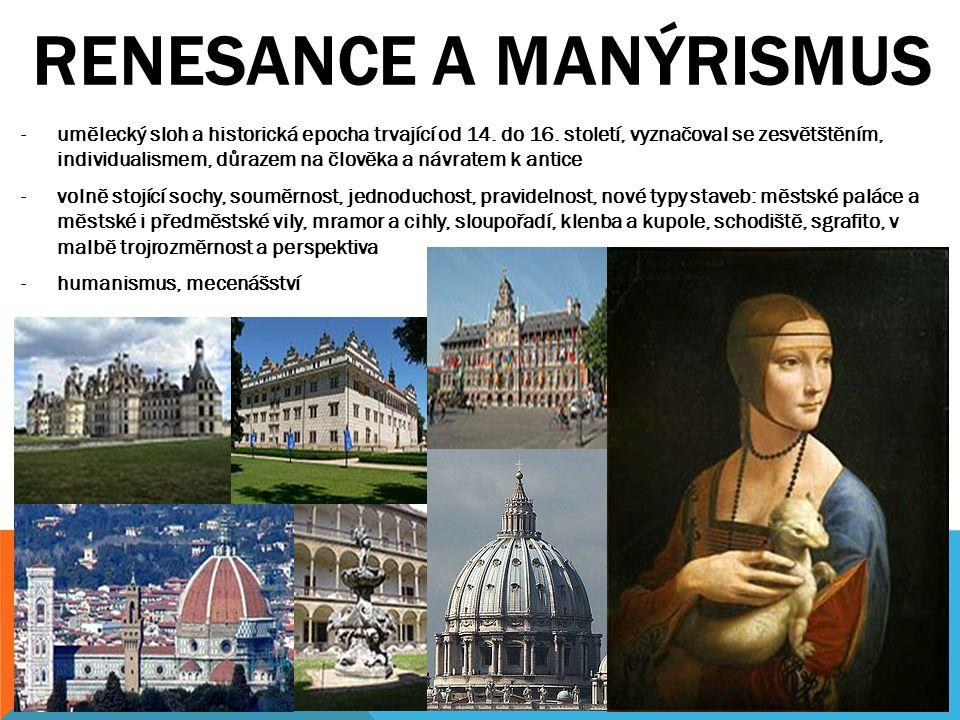 RENESANCE a manýrismus
