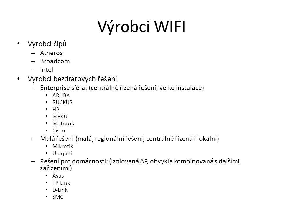 Výrobci WIFI Výrobci čipů Výrobci bezdrátových řešení Atheros Broadcom