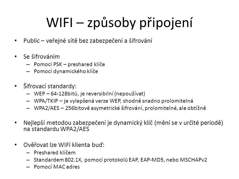 WIFI – způsoby připojení