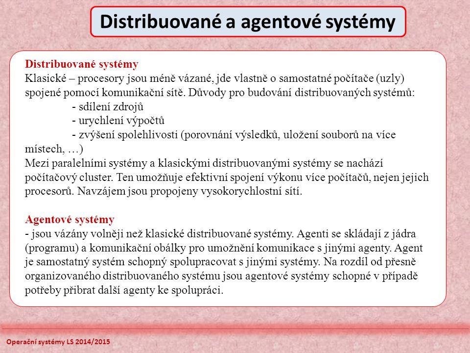 Distribuované a agentové systémy