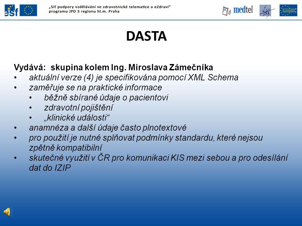 DASTA Vydává: skupina kolem Ing. Miroslava Zámečníka