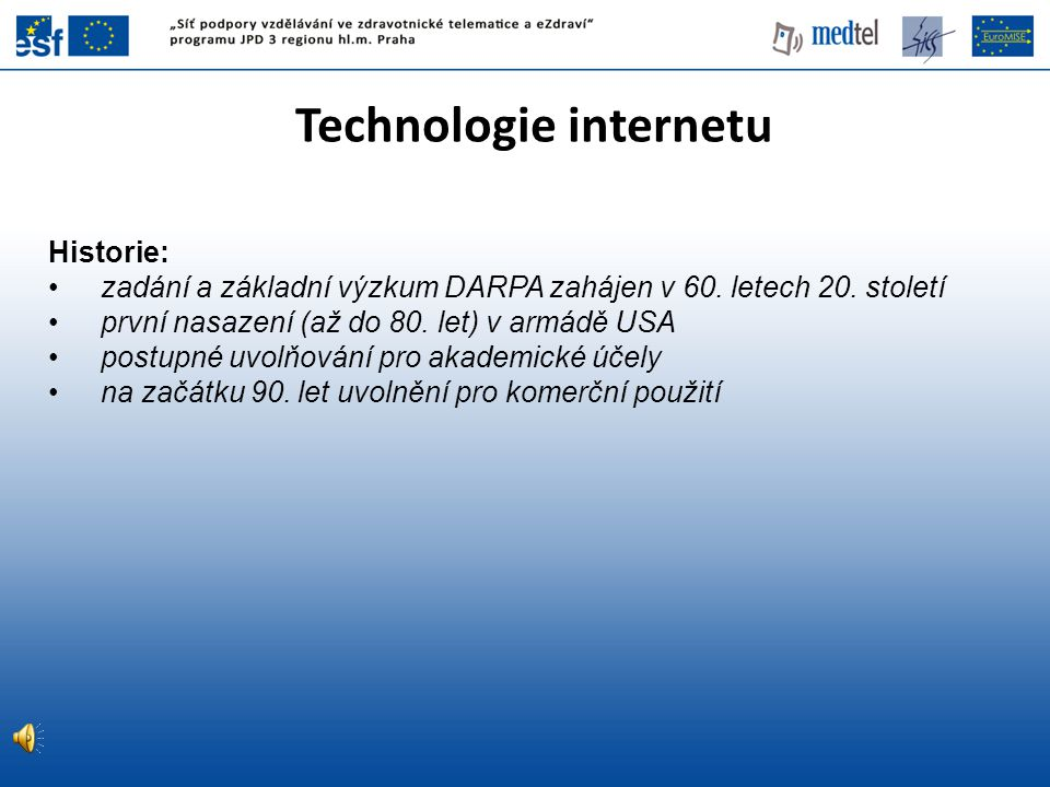 Technologie internetu