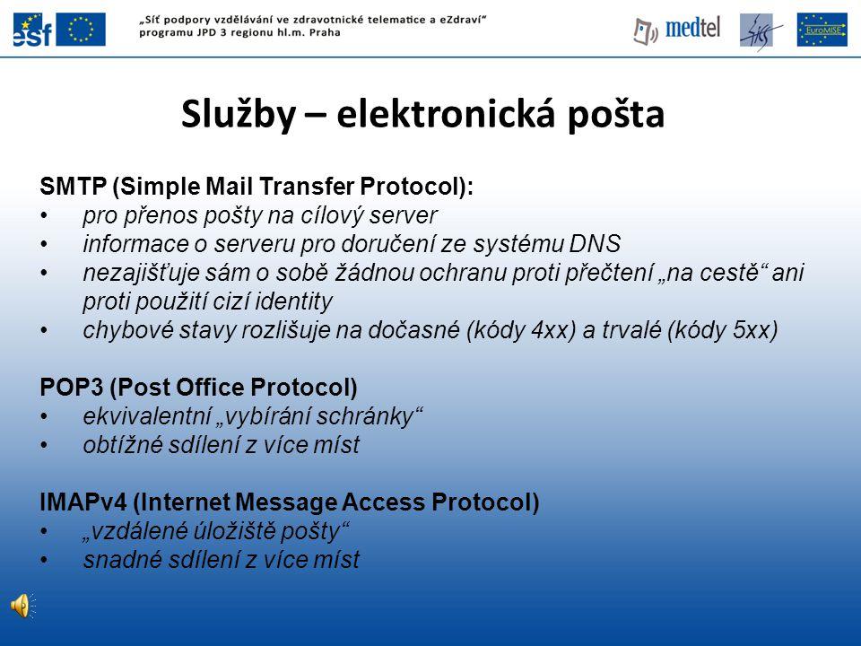 Služby – elektronická pošta