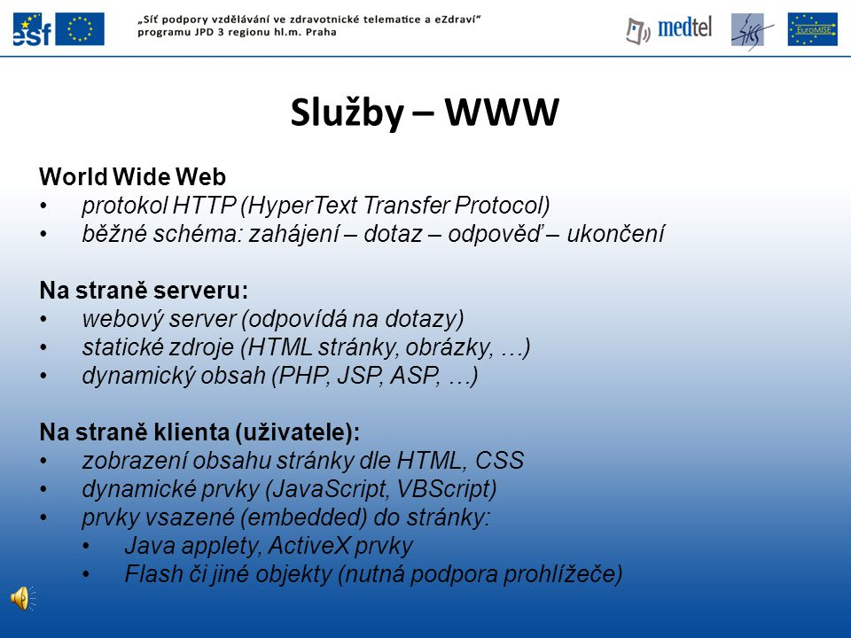 Služby – WWW World Wide Web