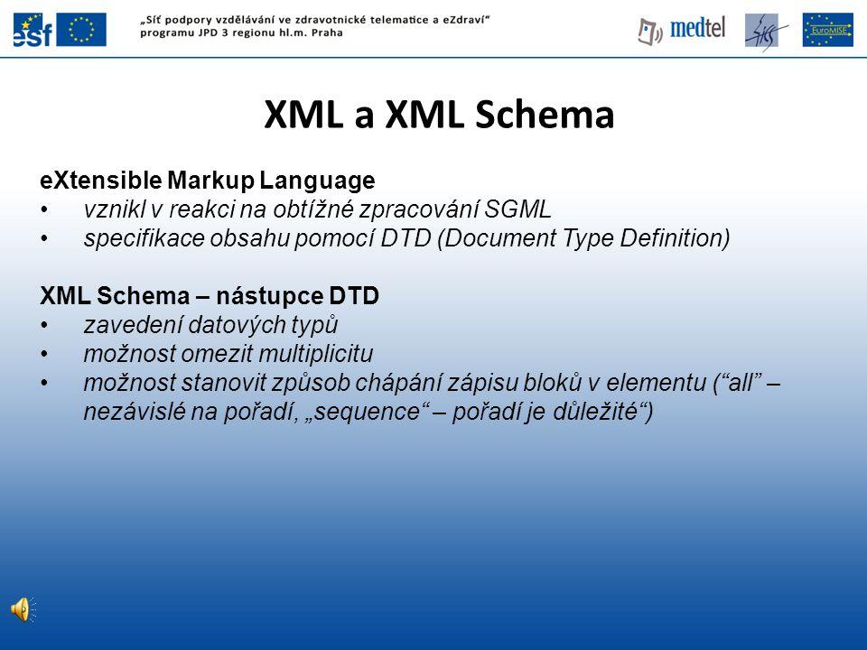 XML a XML Schema eXtensible Markup Language