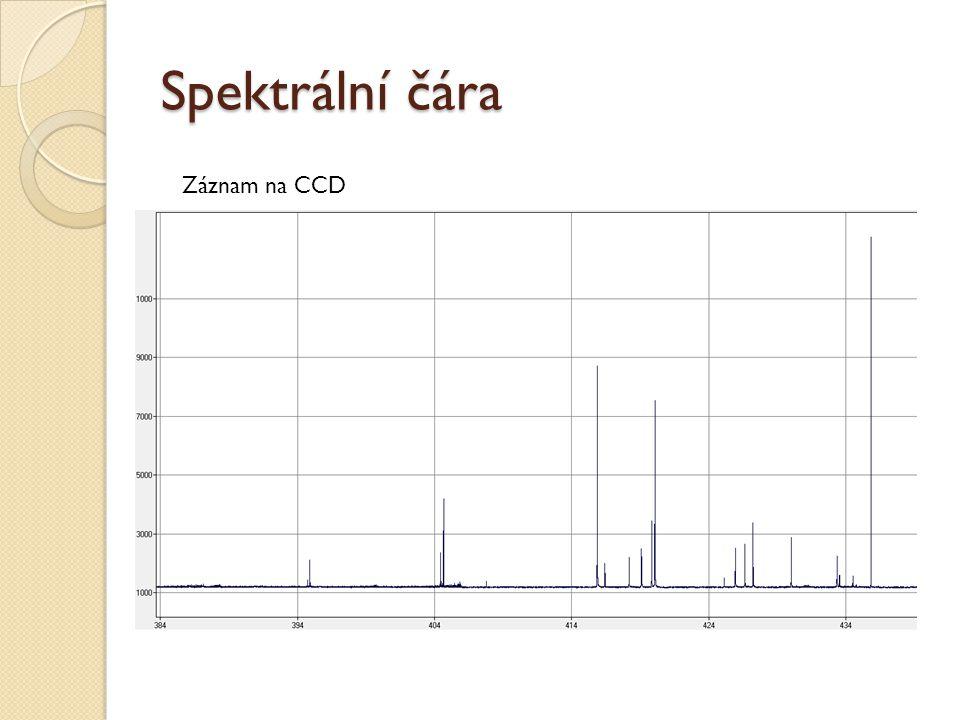 Spektrální čára Záznam na CCD