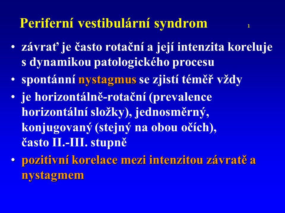 Periferní vestibulární syndrom 1