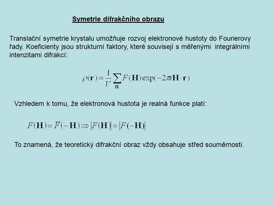 Symetrie difrakčního obrazu
