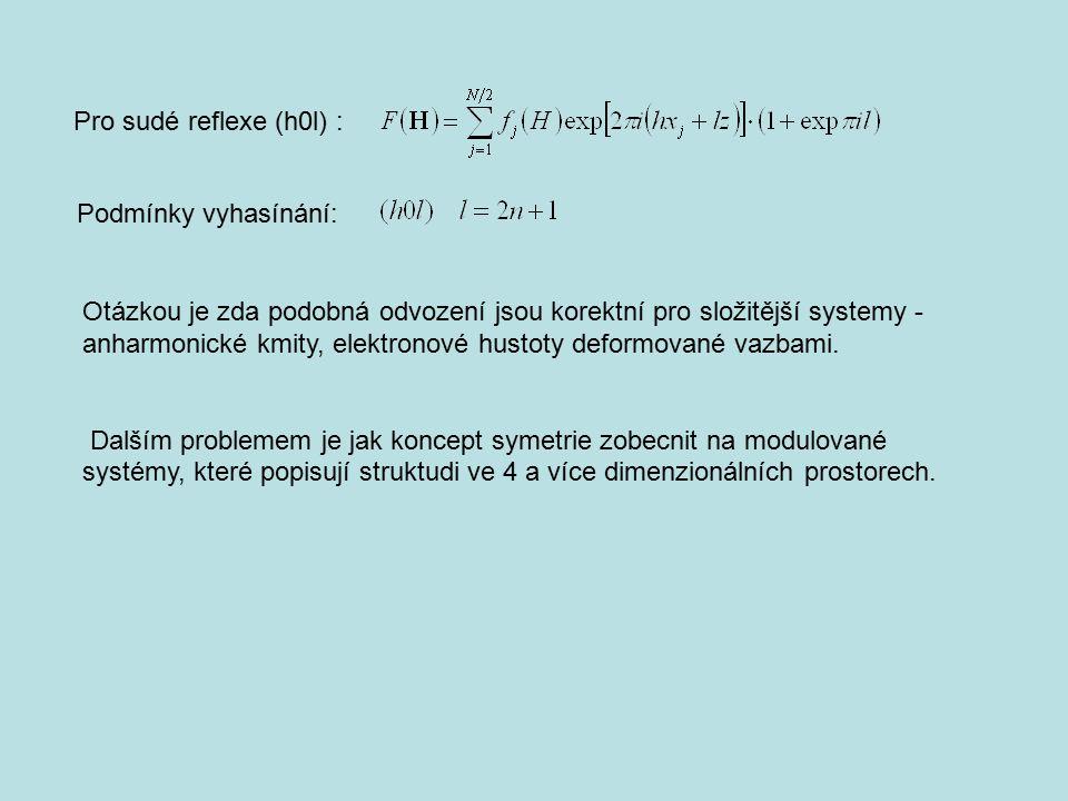 Pro sudé reflexe (h0l) : Podmínky vyhasínání: