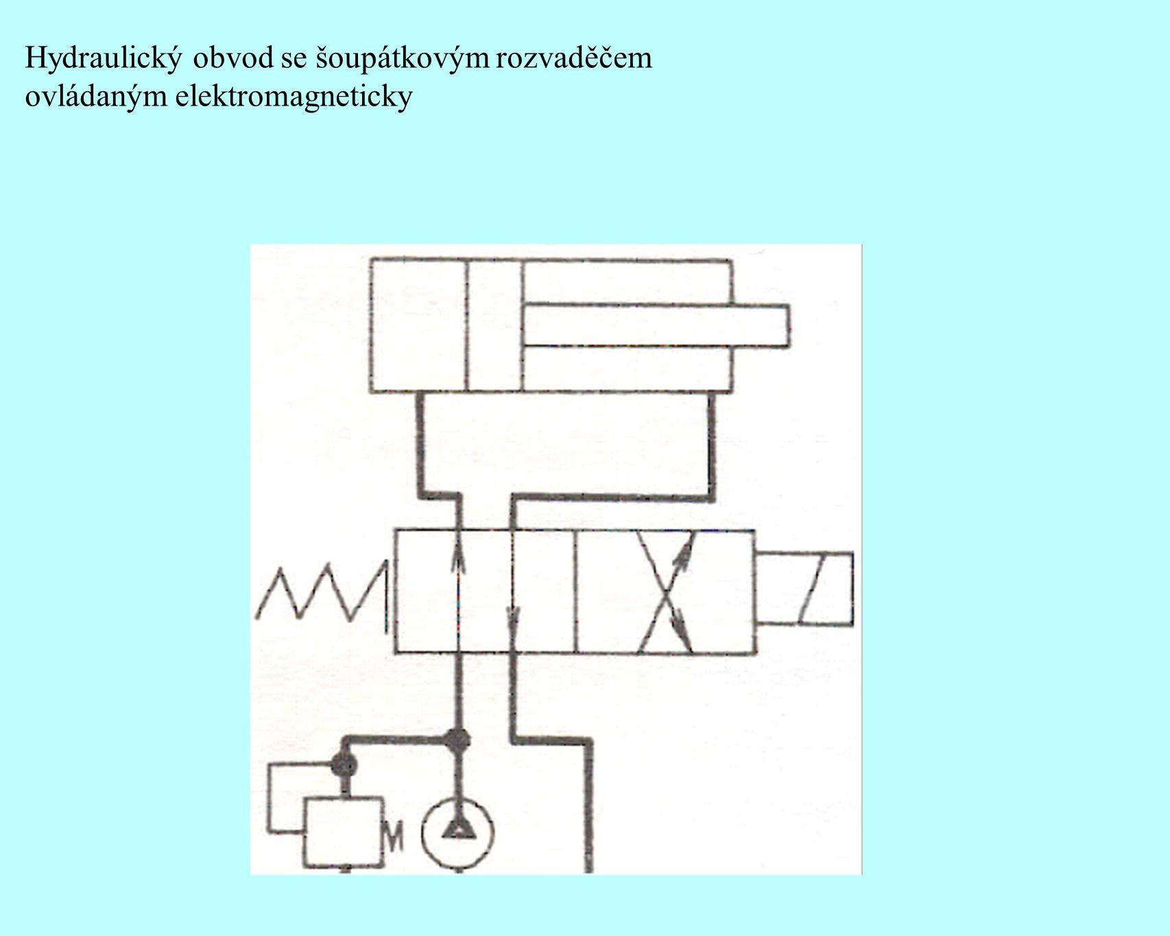 Hydraulický obvod se šoupátkovým rozvaděčem