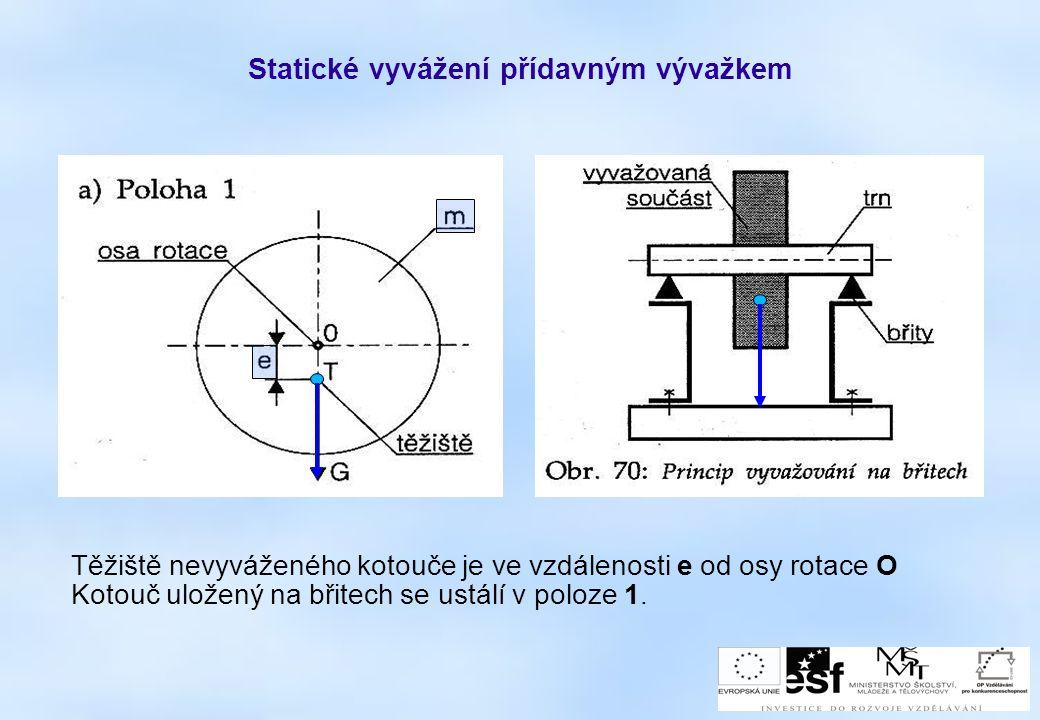 Statické vyvážení přídavným vývažkem