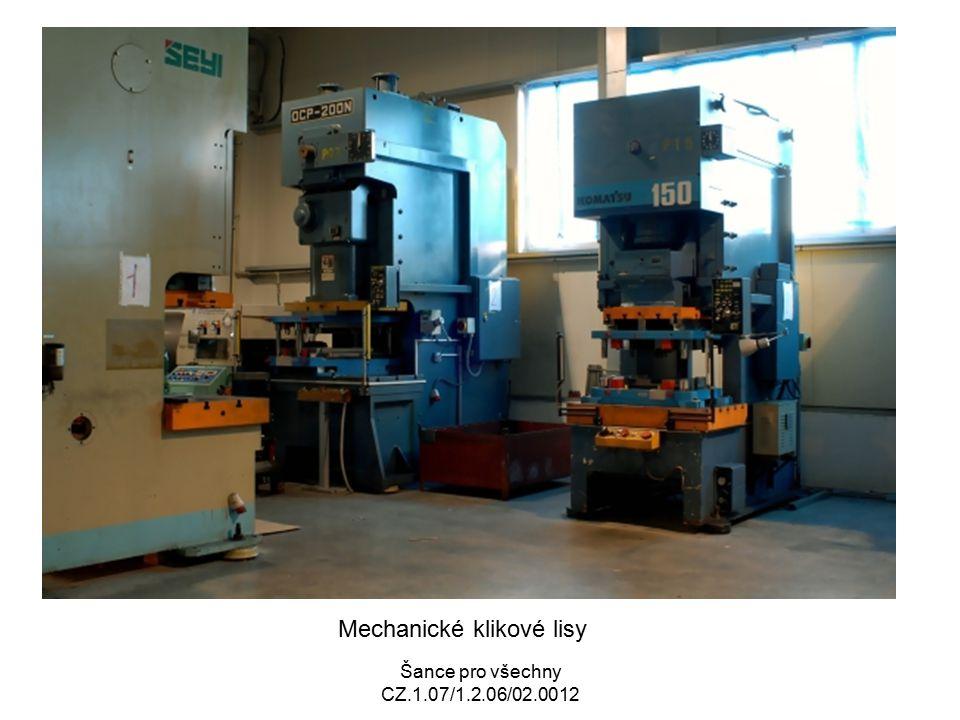 Mechanické klikové lisy