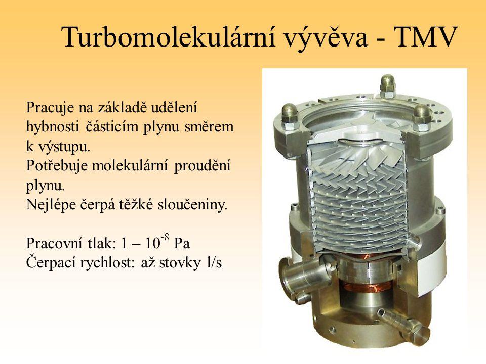 Turbomolekulární vývěva - TMV