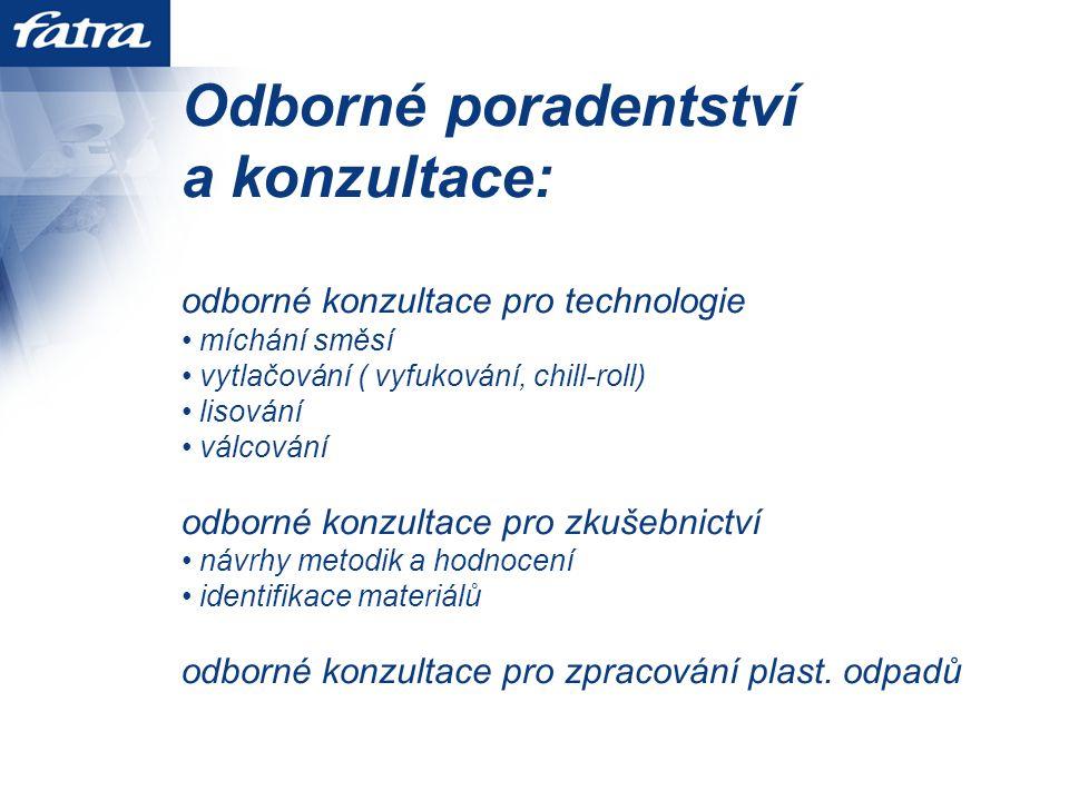 Odborné poradentství a konzultace: