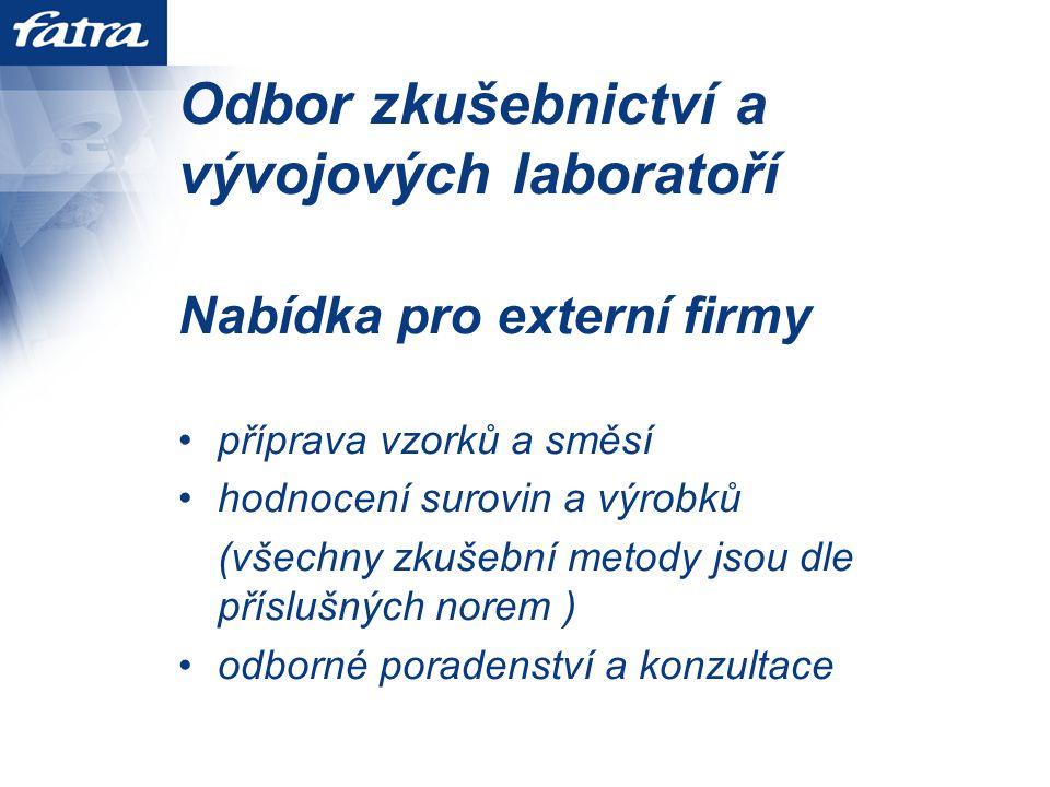 Odbor zkušebnictví a vývojových laboratoří
