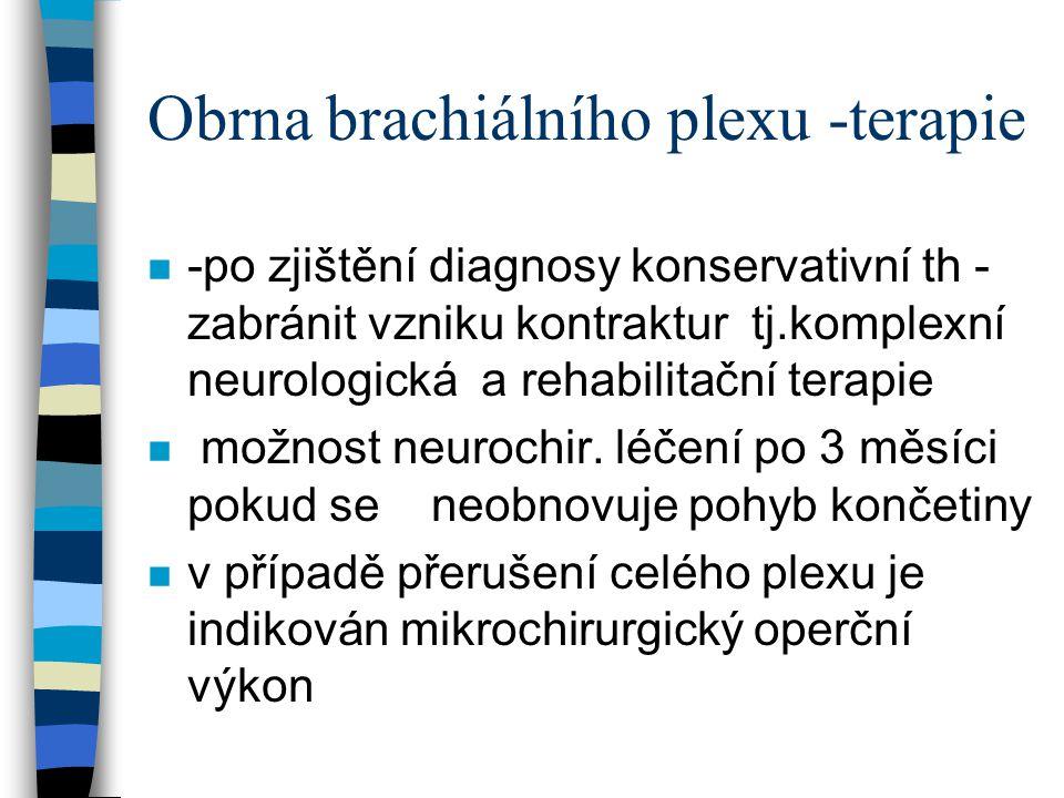 Obrna brachiálního plexu -terapie