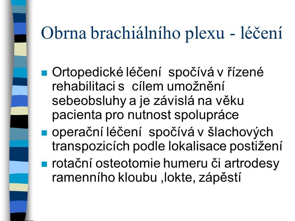 Obrna brachiálního plexu - léčení