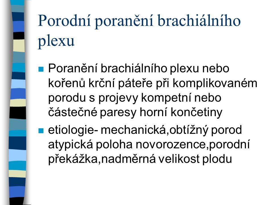 Porodní poranění brachiálního plexu