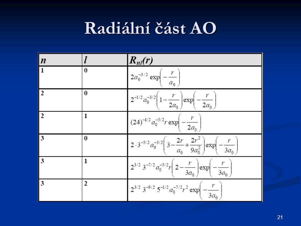 Radiální část AO