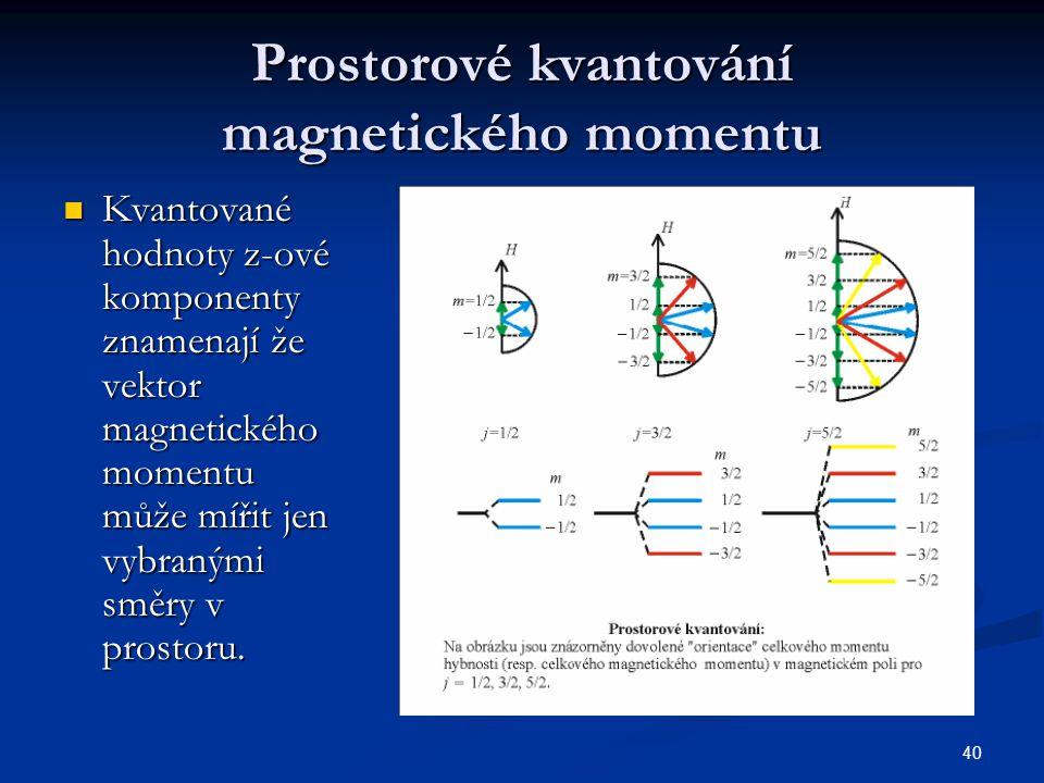 Prostorové kvantování magnetického momentu