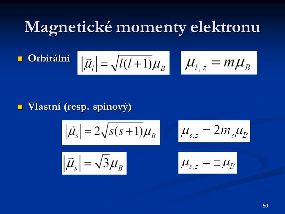 Magnetické momenty elektronu