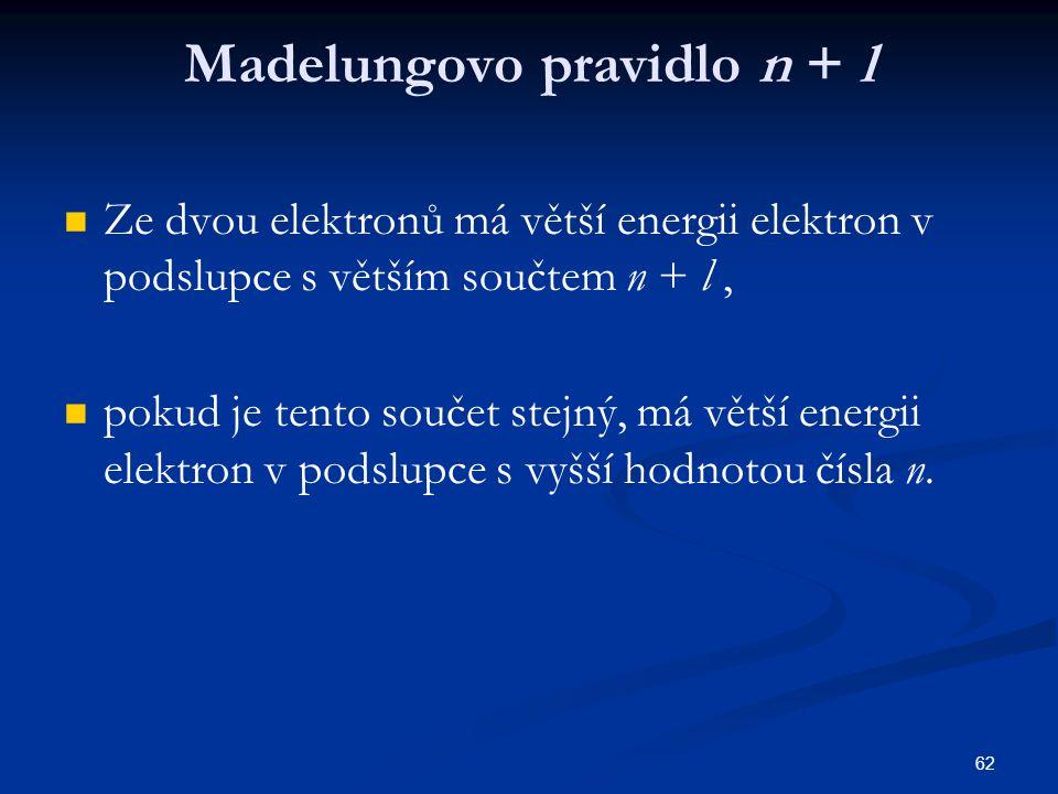 Madelungovo pravidlo n + l