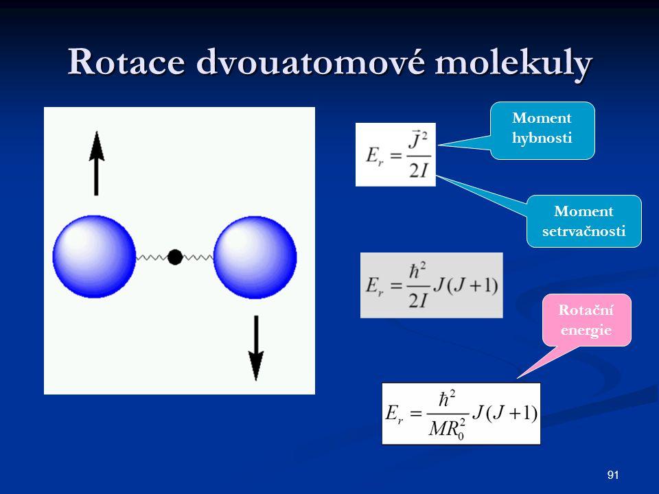 Rotace dvouatomové molekuly