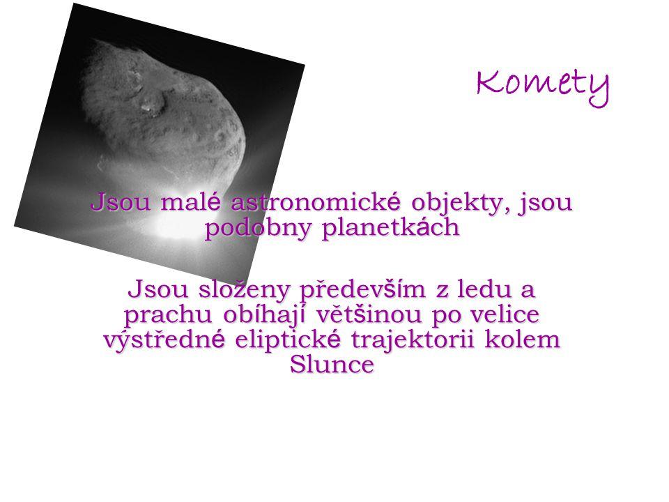 Jsou malé astronomické objekty, jsou podobny planetkách