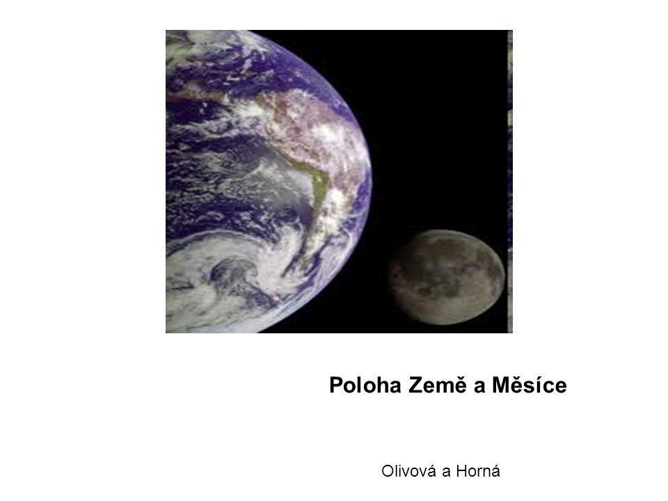 Poloha Země a Měsíce Olivová a Horná