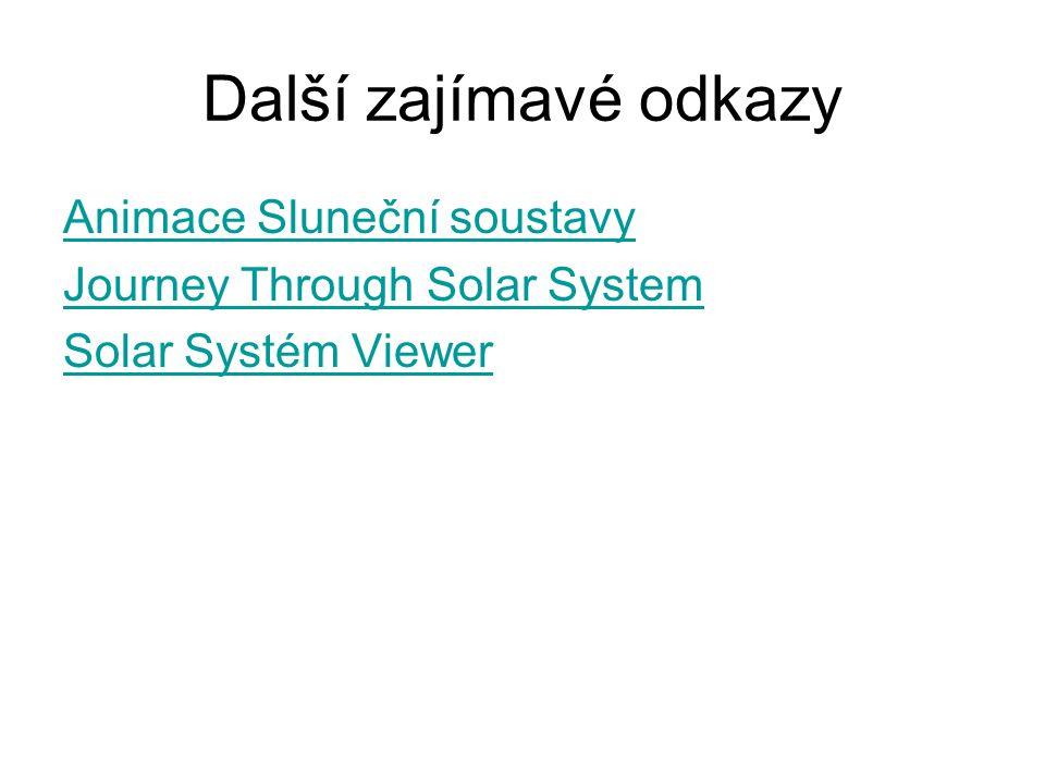 Další zajímavé odkazy Animace Sluneční soustavy