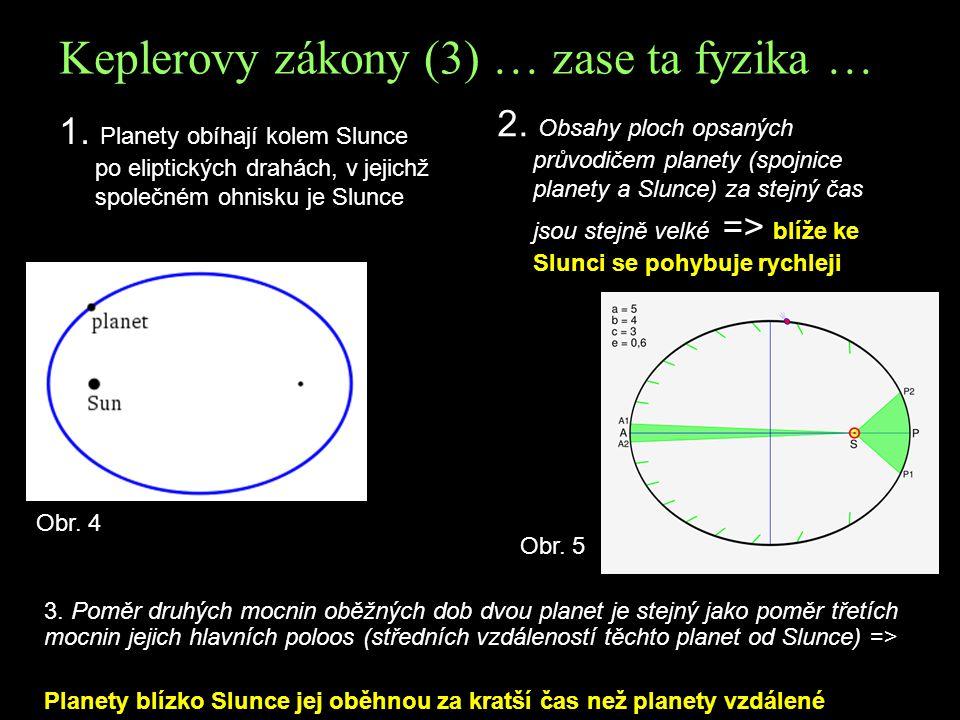 Keplerovy zákony (3) … zase ta fyzika …