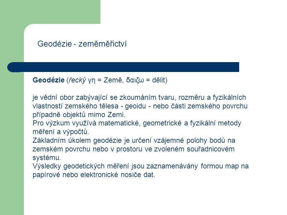 Geodézie - zeměměřictví
