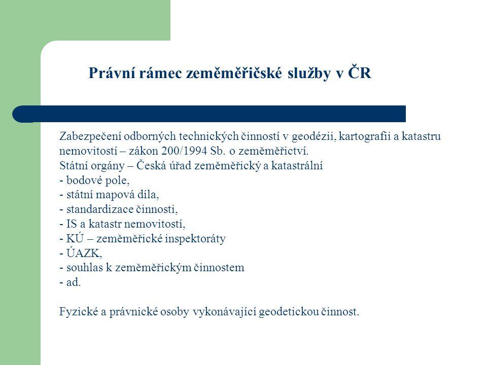 Právní rámec zeměměřičské služby v ČR