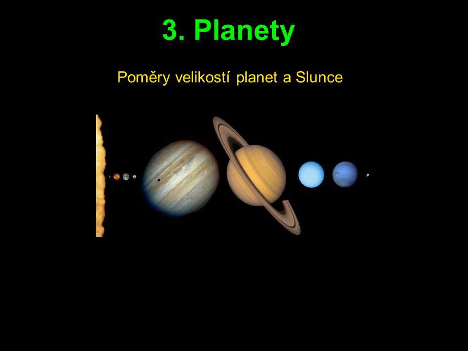3. Planety Poměry velikostí planet a Slunce