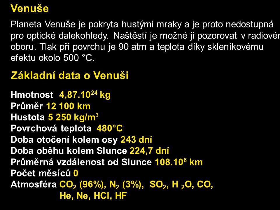 Venuše Základní data o Venuši