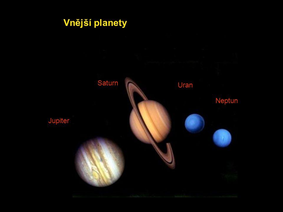 Vnější planety Saturn Uran Neptun Jupiter