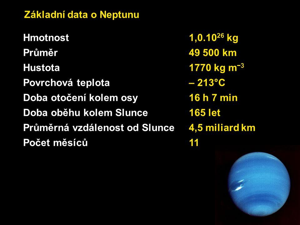 Základní data o Neptunu