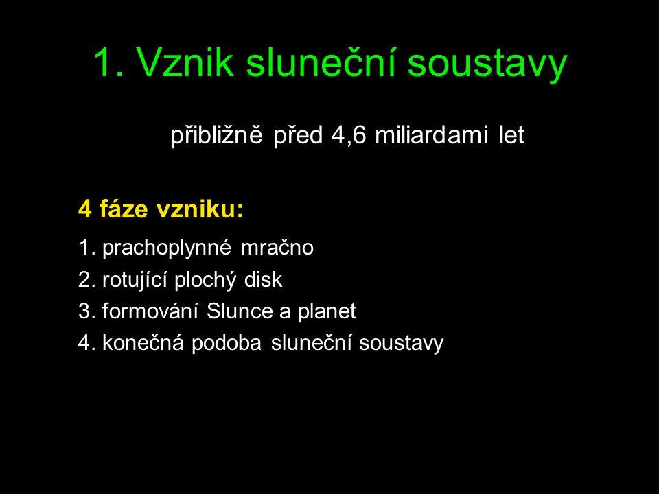 1. Vznik sluneční soustavy
