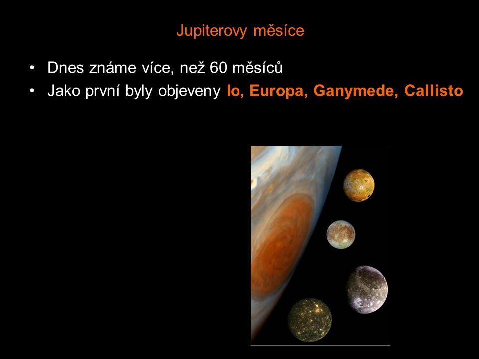 Jupiterovy měsíce Dnes známe více, než 60 měsíců.