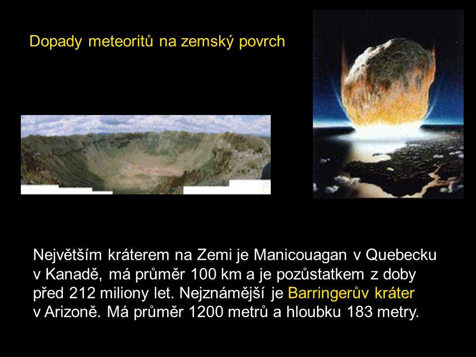 Dopady meteoritů na zemský povrch