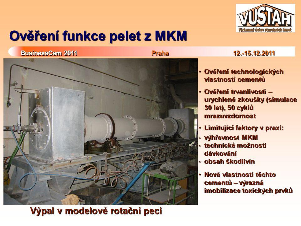 Ověření funkce pelet z MKM
