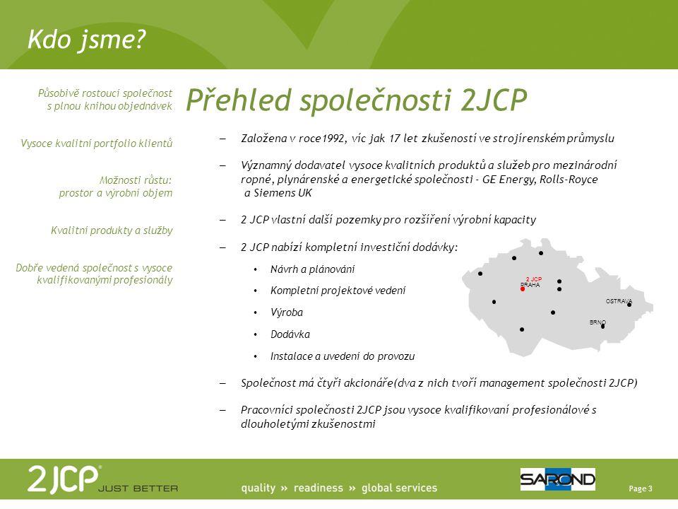Přehled společnosti 2JCP